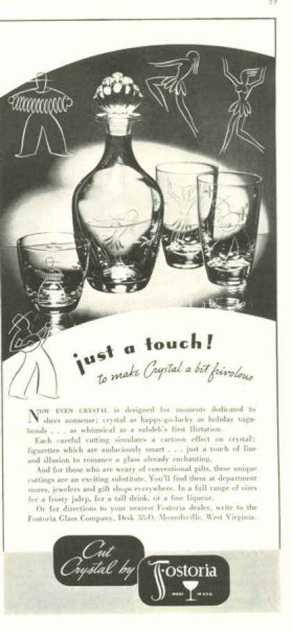 Fostoria Crystal Decanter Glasses (1938)