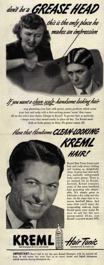 R.B. Semler's hair tonic – Don't be a Grease Head (1949)