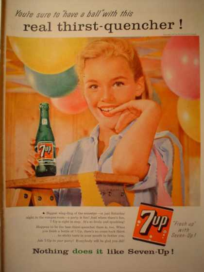 7UP Real thirst quencher High school ball theme (1957)