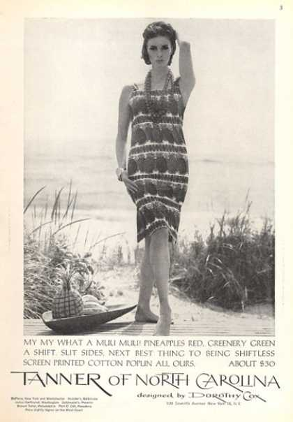 Tanner of N. Carolina Dorothy Cox Fashion Dress (1963)