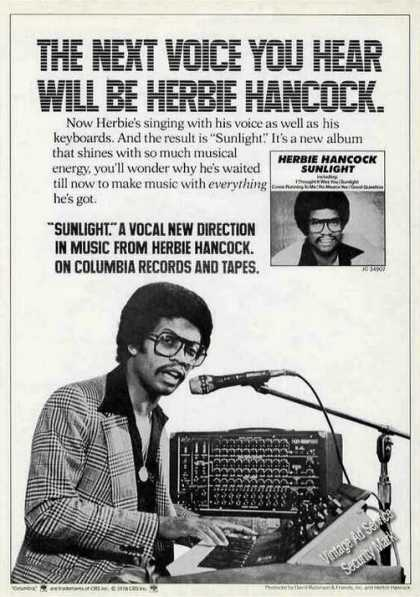 "Herbie Hancock Photo ""Sunlight"" Album Promo (1978)"
