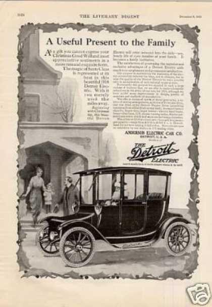 "Detroit Electric Car Ad ""A Useful Present... (1914)"