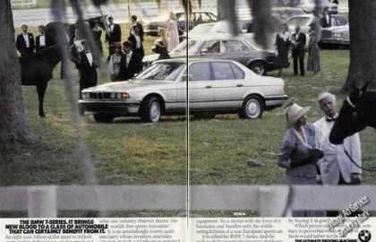 Bmw 7-series Ad Horses at Ocala Theme Print Photo (1989)