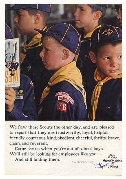 United Airlines Boy Scouts Fly Photo (1968)