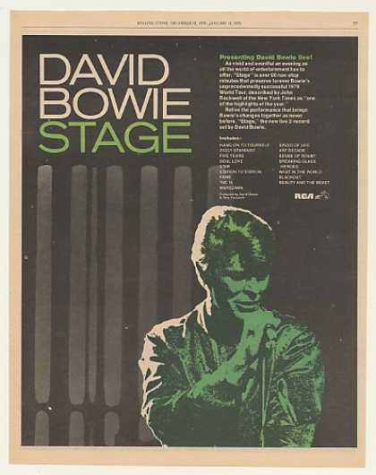 David Bowie Stage Live Album RCA Records (1979)