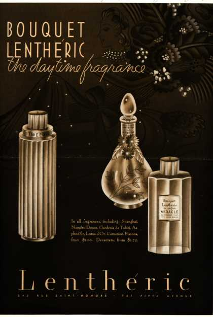 Lentheric – Bouquet Lentheric, the daytime fragrance (1939)