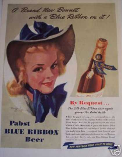 Pabst Beer Silk Blue Ribbon Is Back (1940)