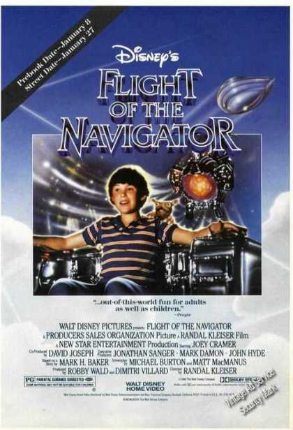 Disney's Flight of the Navigator Movie Promo (1986)