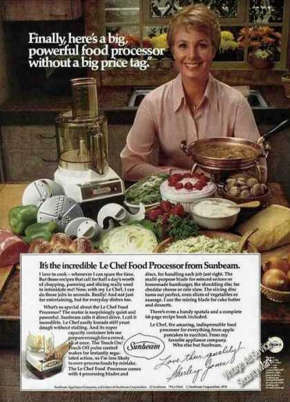 Shirley Jones Photo Le Chef Food Processor (1979)