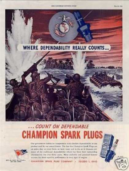 Wwii Champion Spark Plugs (1944)