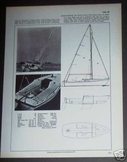 Jensen Marine Cal 20 Sailboat Boat Spec Page (1971)