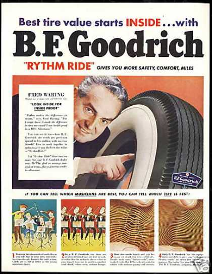 Fred Waring Photo B.F Goodrich Vintage Tire (1950)