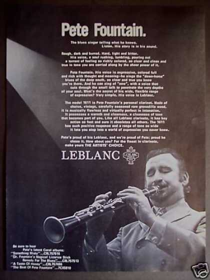 Pete Fountain Photo Leblanc Clarinet (1971)