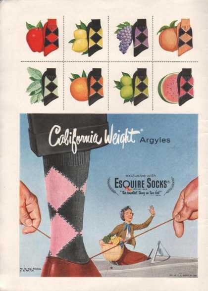 Esquire Socks California Weight (1955)