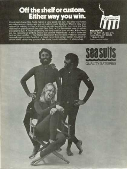 Rubatex Sea Wet Suit Men Women Scuba Diver (1978)