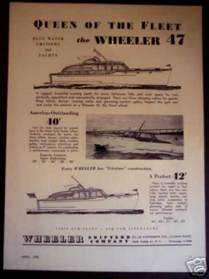 Wheeler 47', 40, 42 Blue Water Cruisers Yacht (1950)