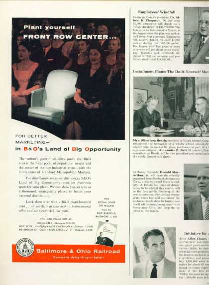 Baltimore & Ohio Railroad 1/2 Page Ad B & O (1957)