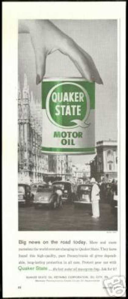 Milan Italy Photo Quaker State Motor Oil (1958)