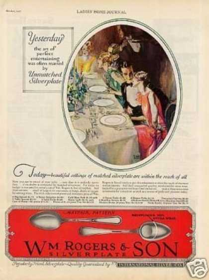 Wm. Rogers & Son Silverplate Ad Mayfair (1927)