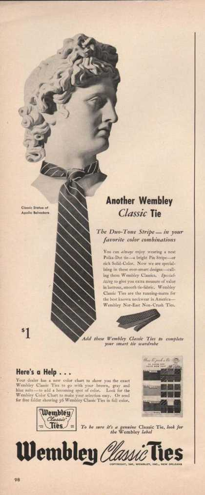 Wembley Classic Mens Ties (1941)