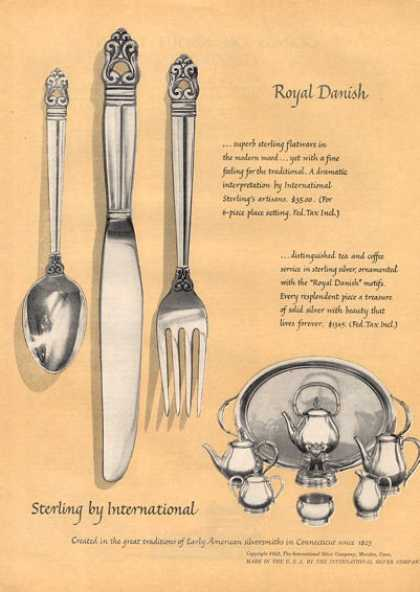 International Sterling Sliver Dinnerware (1952)