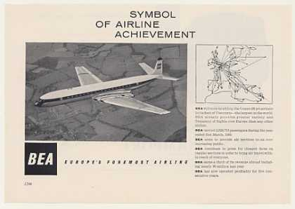 BEA Airlines Comet 4B Jet Airliner Photo (1959)