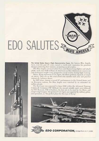 EDO Salutes US Navy Blue Angels Photo (1966)