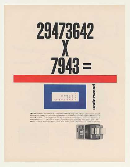 Underwood Olivetti Printing Calculator (1963)
