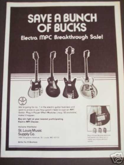 Electra Mpc Guitars W Power Effects Modules (1979)
