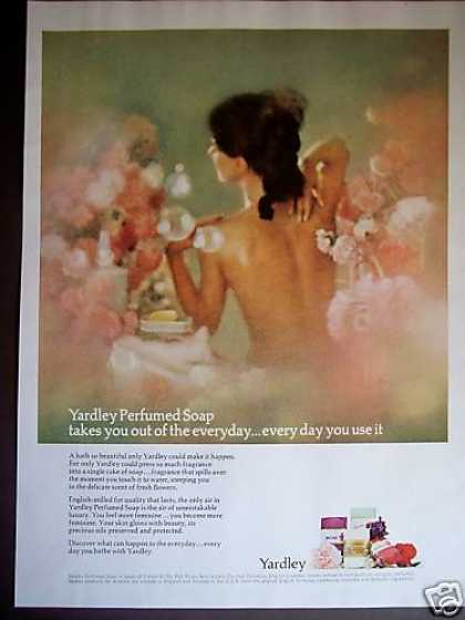 Woman In Bath Yardley Perfumed Soaps Beauty (1965)