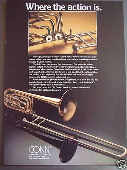 Conn 83h Double In-line Rotor Trombone Photo (1979)
