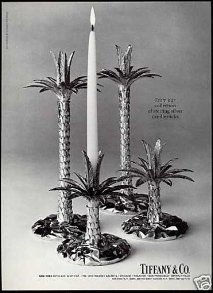 Tropical Silver Candlesticks Photo Tiffany & Co (1979)