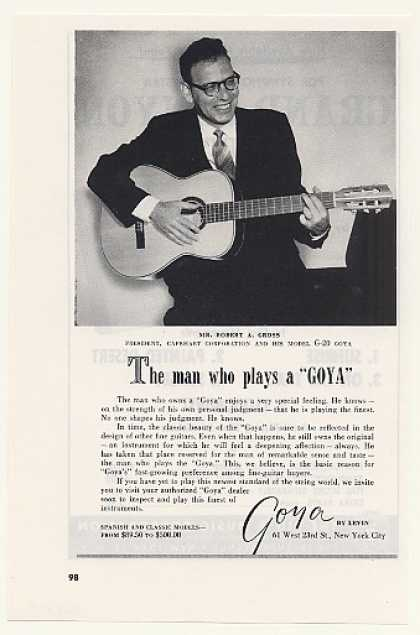 Robert A Gross Goya Model G-20 Guitar (1958)