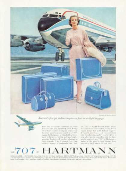 Hartmann Luggage Boeing 707 Plane Airplane (1959)