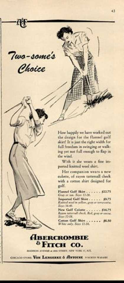 Abercrombie & Fitch Women Golf Golfing (1952)