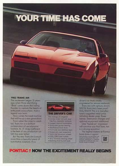 Red Pontiac Trans Am Your Time Has Come (1982)