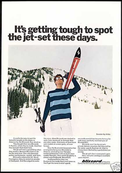 Blizzard Snow Ski Skier Jet Set Photo (1969)