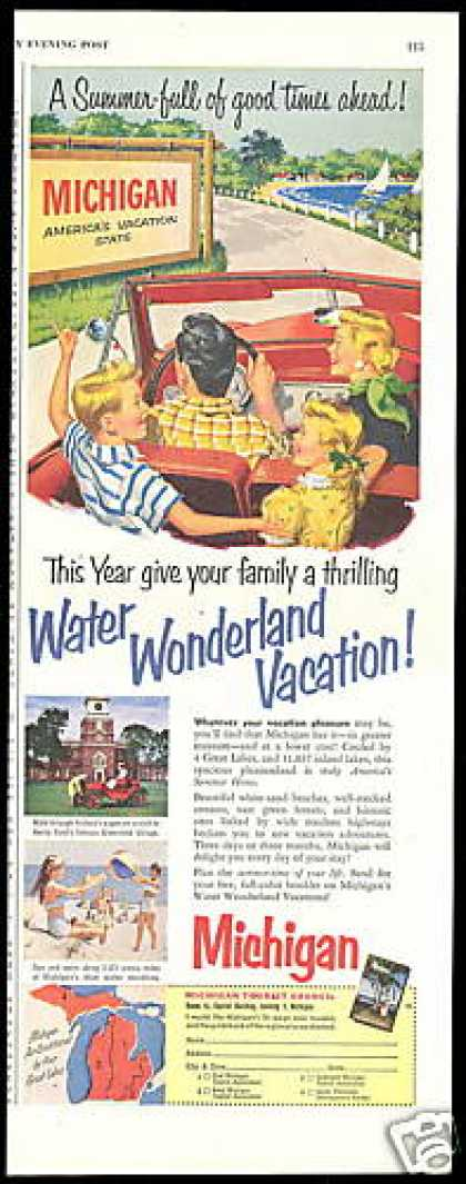 Michigan Travel America's Vacation State (1954)
