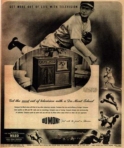 Allen B. DuMont Laboratorie's Radio Phonograph Television – Get More Out Of Life With Television (1947)