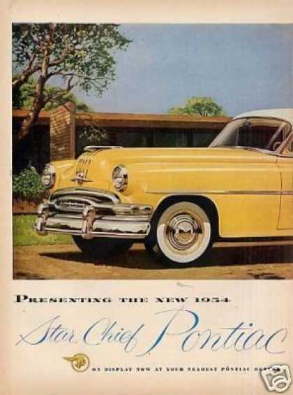 Pontiac Star Chief Car Ad 2 Page (1954)