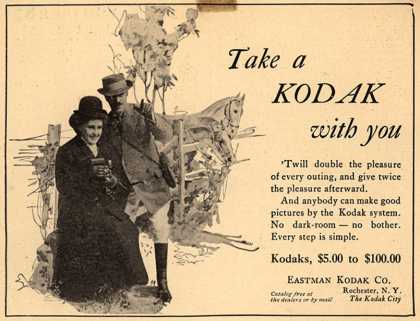 Kodak – Take a Kodak with you (1908)