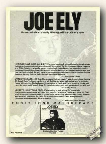Joe Ely Photo Album Promo Advertising (1978)