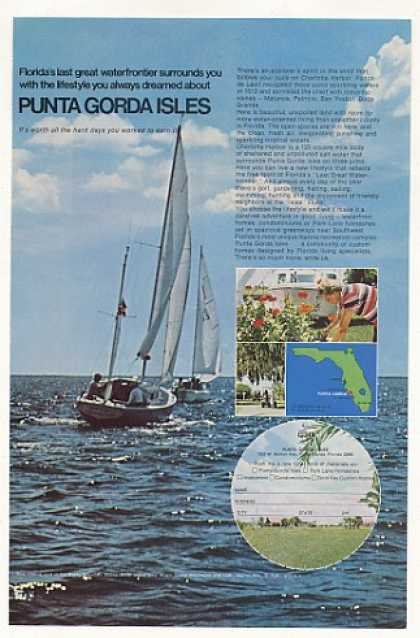 Punta Gorda Isles Florida Homesites Sailboat (1972)