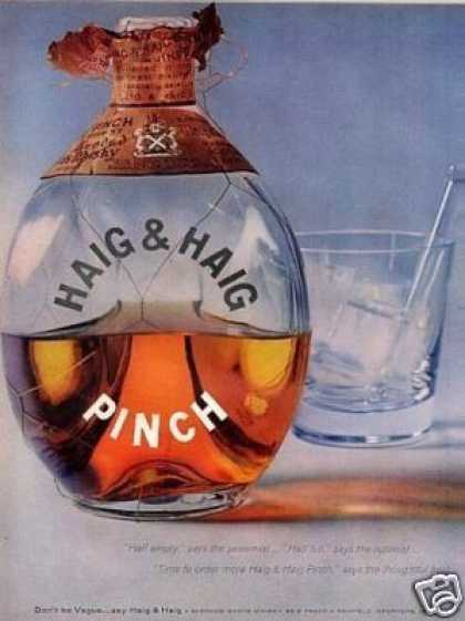 Haig & Haig Whiskey (1957)