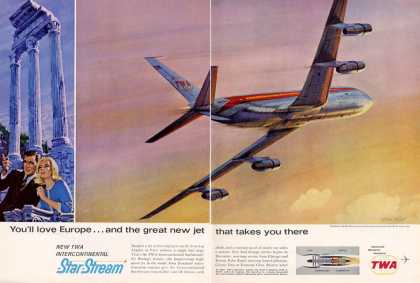 Twa Starstream Jet Plane (1962)