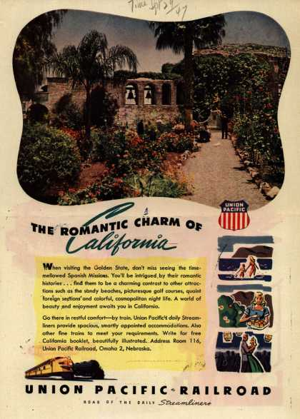 Union Pacific Railroad's California – The Romantic Charm of California (1947)