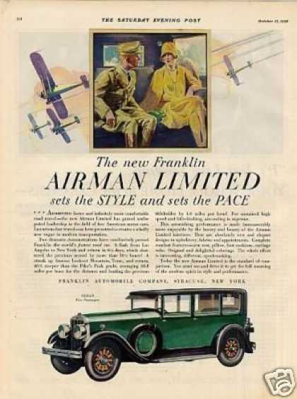 Franklin Airman Limited Sedan Color (1929)