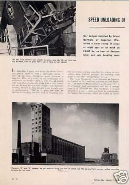 """Speed Unloading of Grain"" Article/gn/supe (1949)"