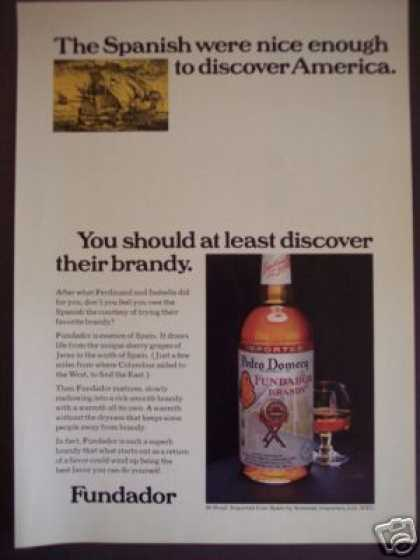 Fundador Spanish Brandy (1970)