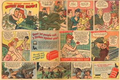 "Lever Brothers Company's Lifebuoy Health Soap and Shaving Cream – ""TWO STRIKE"" SUSIE IS SWEET SUSIE NOW (1945)"